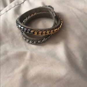 Vita Fede tri-color double wrap bracelet